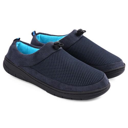men s slippers memory foam house shoes