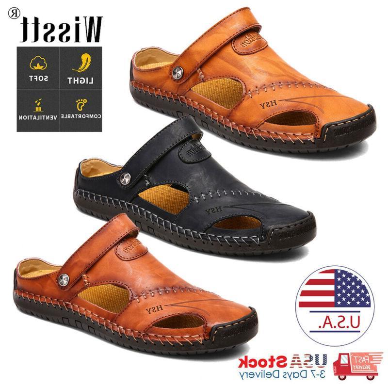 men s sport close toe sandals summer