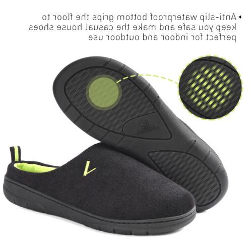 Men's Two Tone Memory Foam Indoor Slip On House Shoes