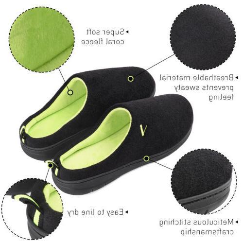 Men's Memory Foam Slippers Indoor Slip On Shoes