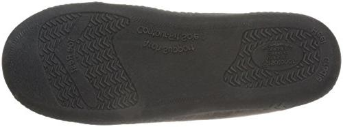 Isotoner Whipstitch Infused Memory Moccasin, Dark Chocolate, 8-9 M