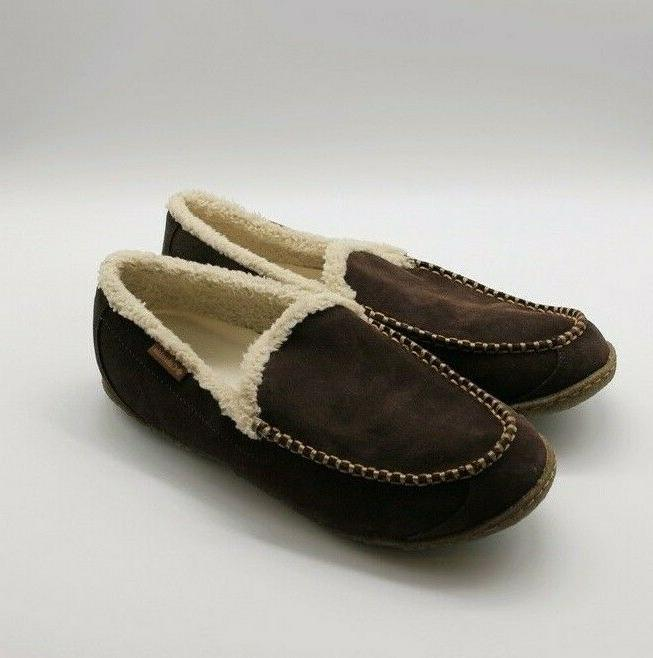 Columbia Mens Moc Lined Brown Size