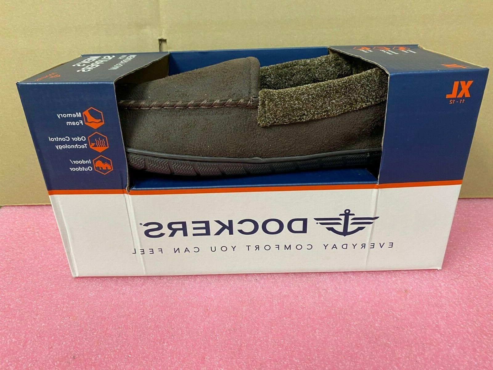 mens brown slippers with memory foam size