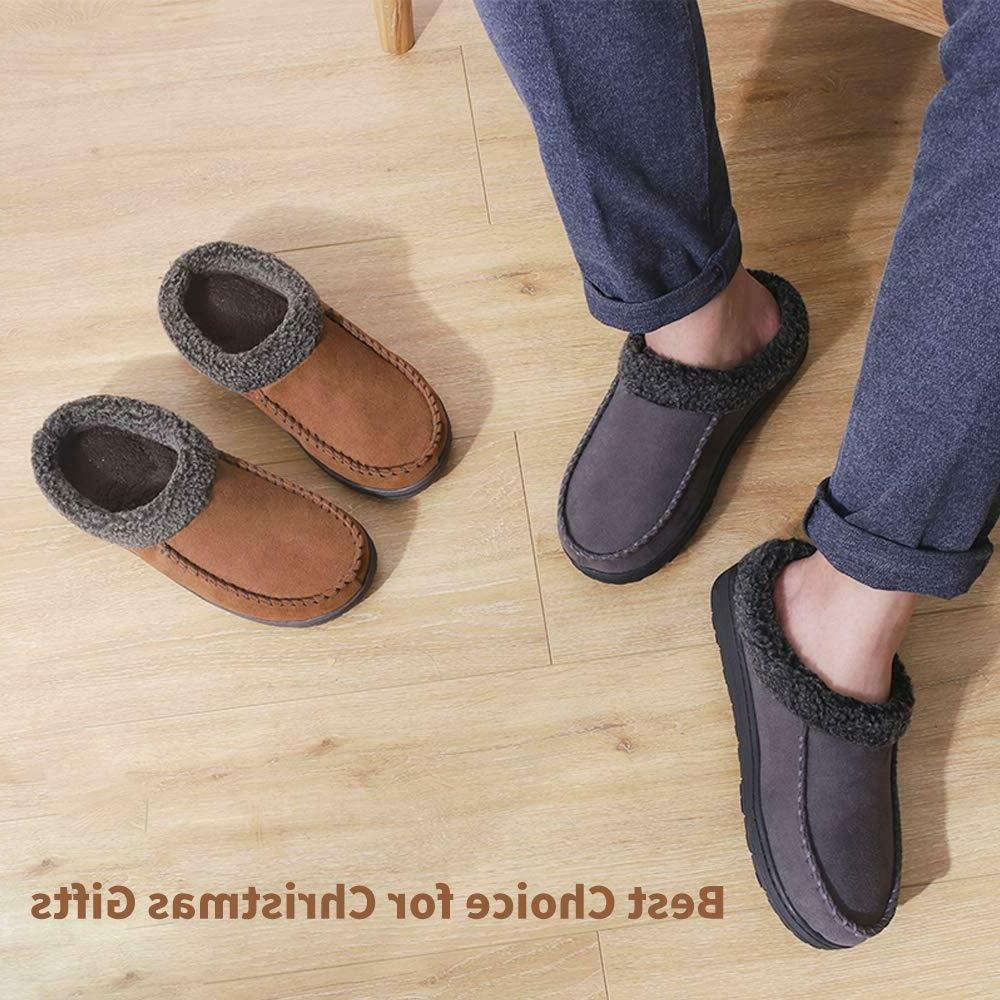 Mens Slippers House Shoes with Foam