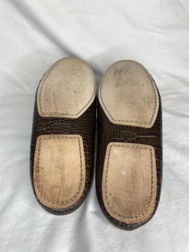 Cole Haan Men's On Slippers House Brown Croc Size 10