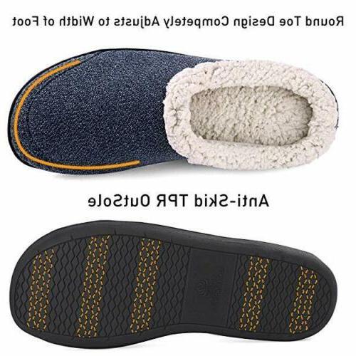 Men's Warm Slippers Memory Foam House