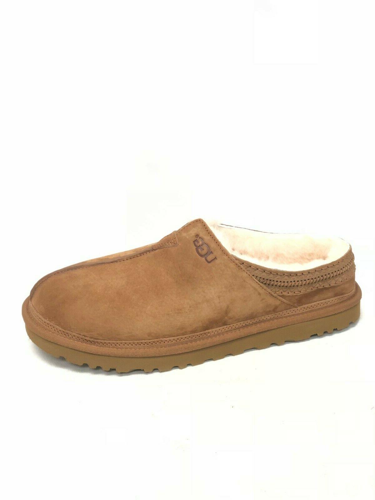 neuman chestnut suede sheepskin slippers shoes tasman