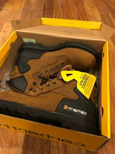 "NEW Boot Men's 6"" Steel Toe Work Boot, Size 10"