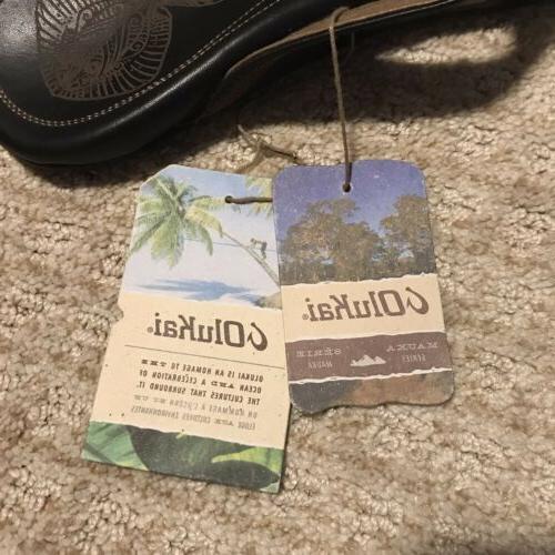 NEW OLUKAI Leather Slippers Flip Flops Stingray