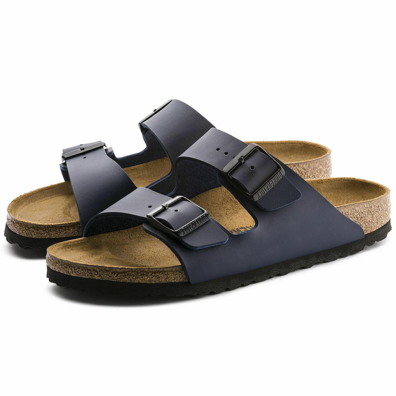 new men arizona regular width sandal blue