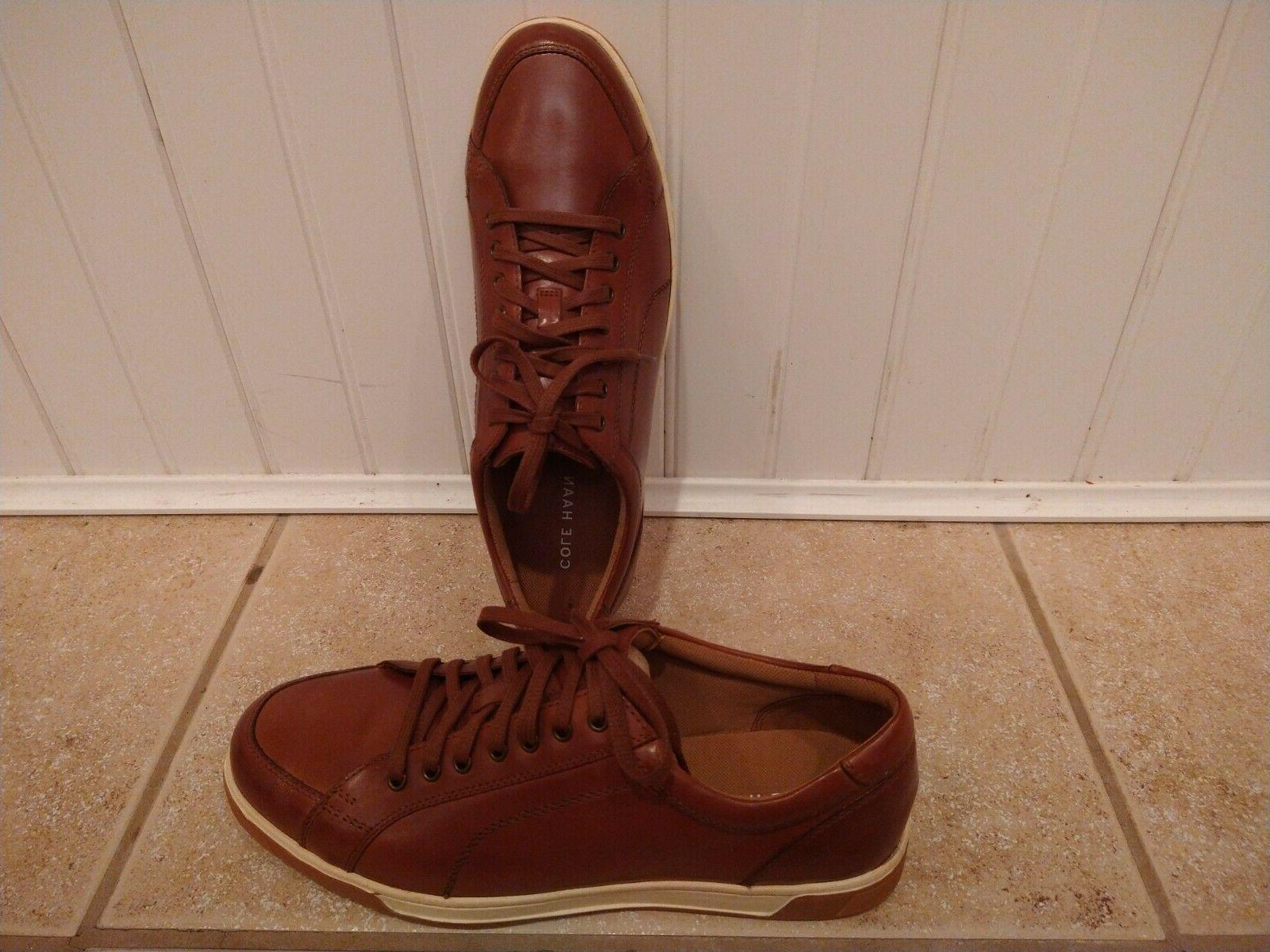 NEW Cole Haan Men's British Tan Leather Sneaker Shoe 10.5
