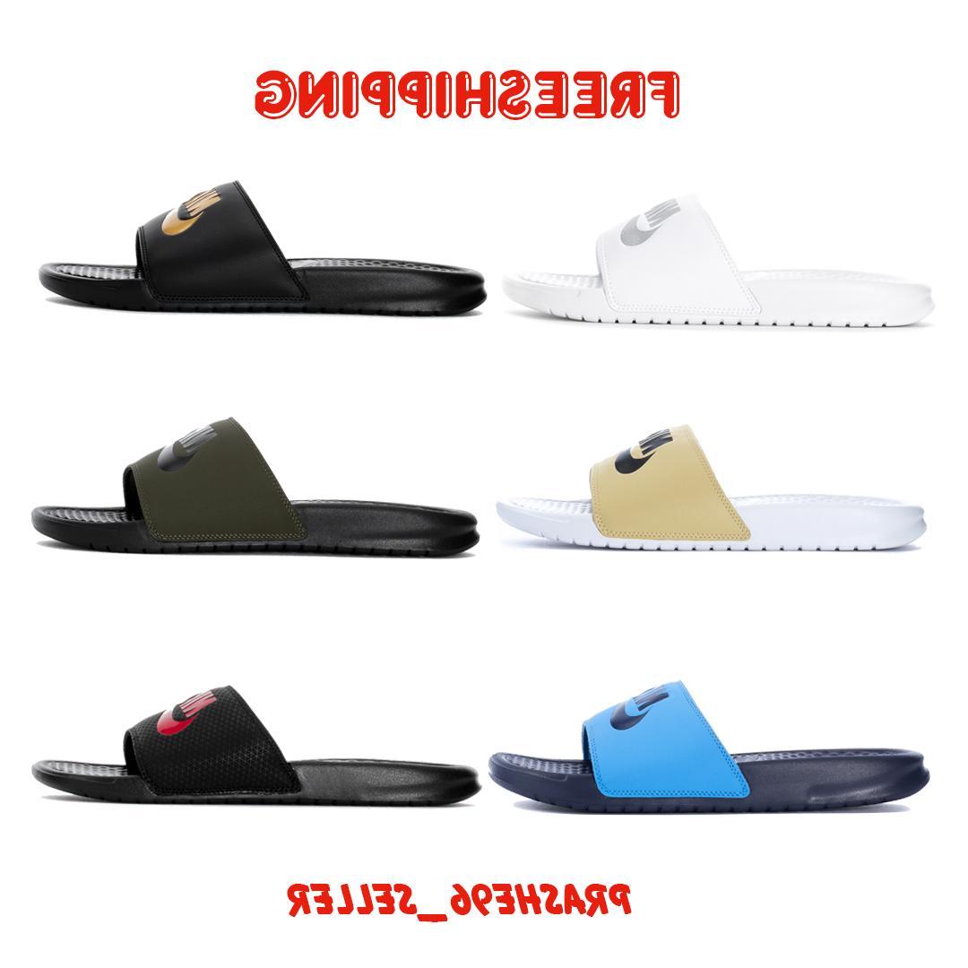 new mens benassi jdi slippers slide sandals
