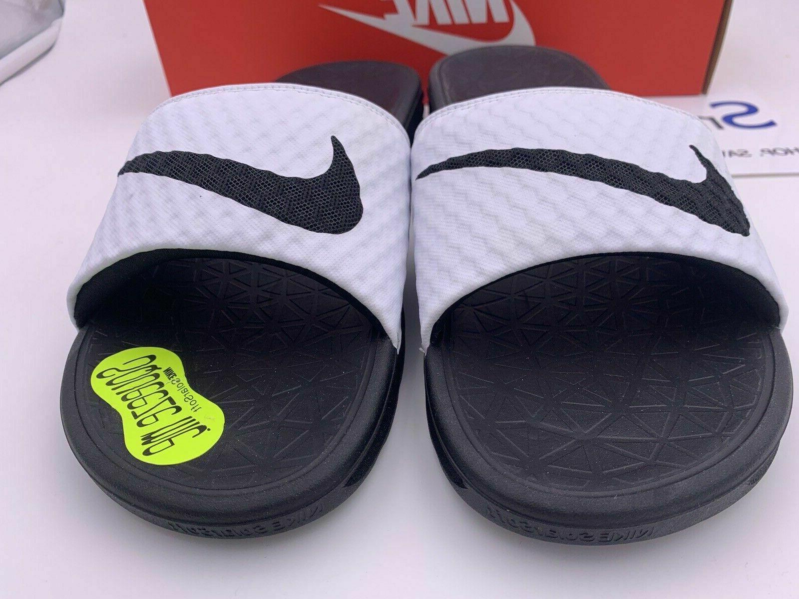 NEW Nike Benassi Black Logo Slides Slippers