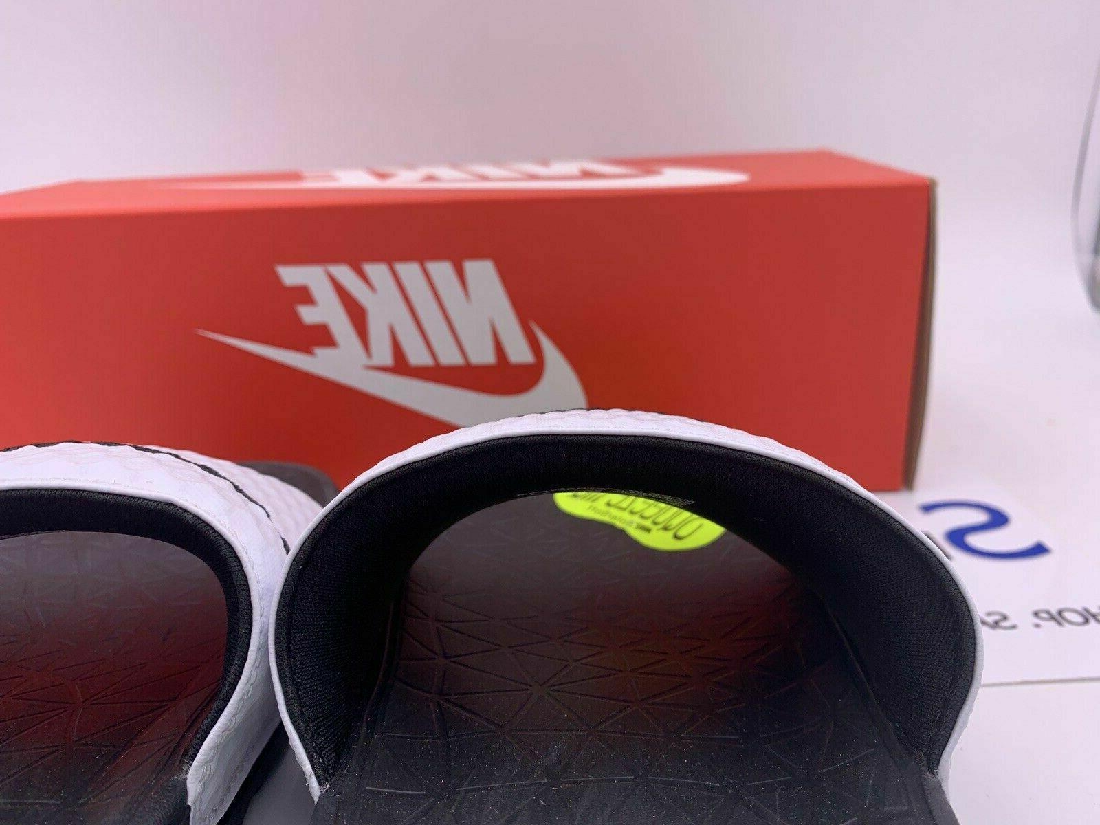 NEW SIZE MEN Nike Solarsoft Black Logo Slippers
