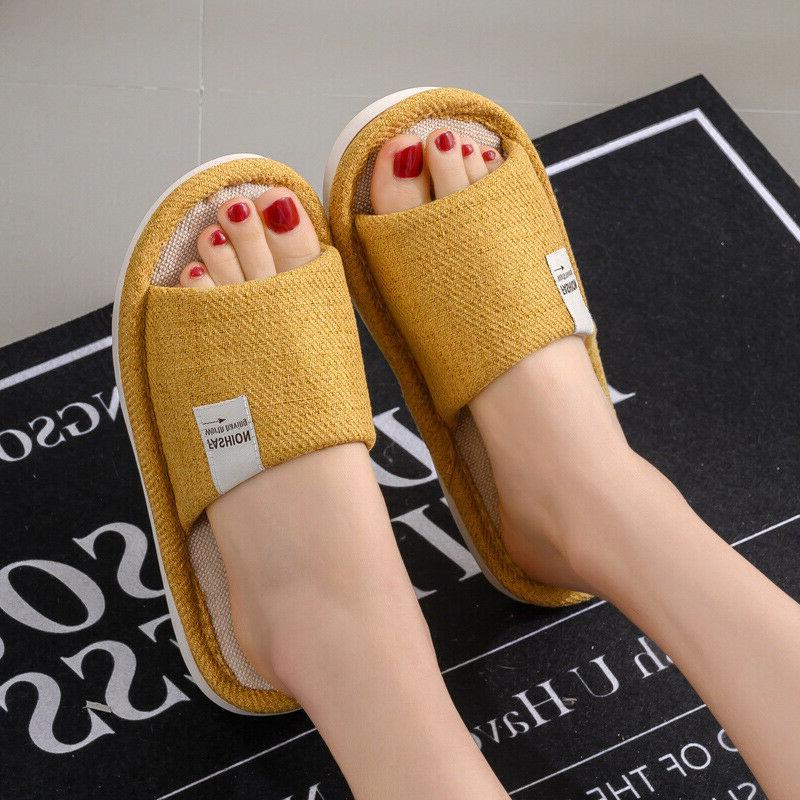 New Men Slippers Anti-slip Toe Home Shoes