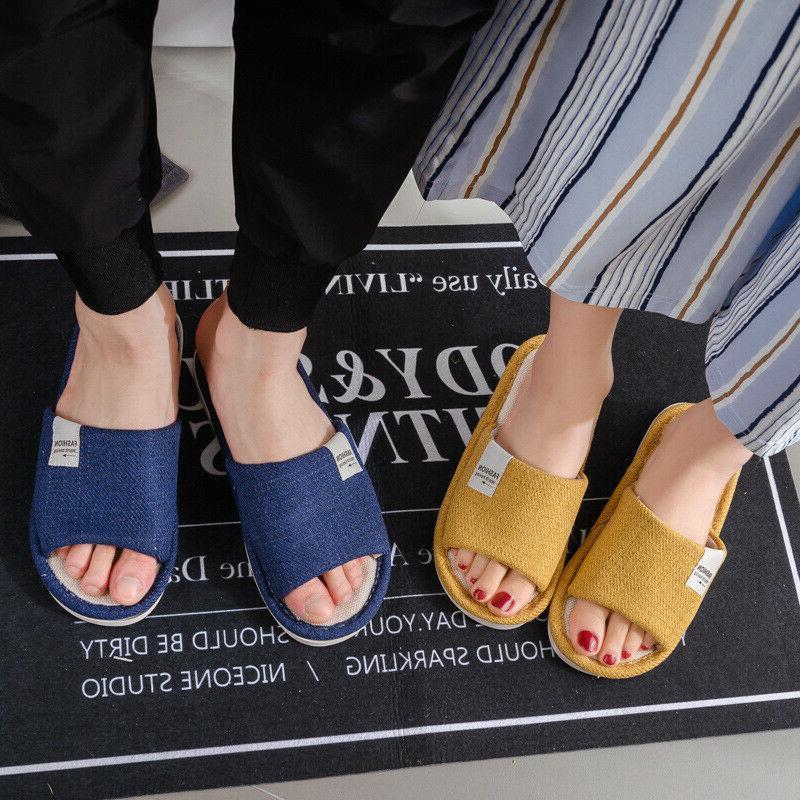 New Men Indoor Slippers Toe Shoes
