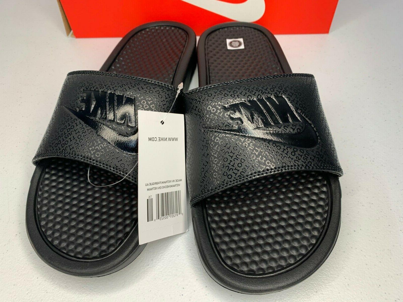 NIB SIZES 6-13 Nike Benassi Black Out Sandals