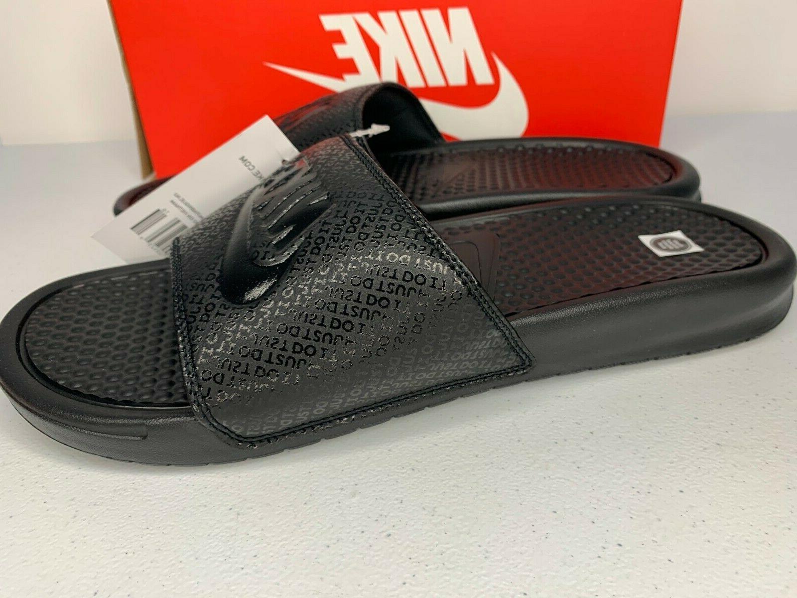NIB 6-13 Nike Black Slides Sandals Slippers
