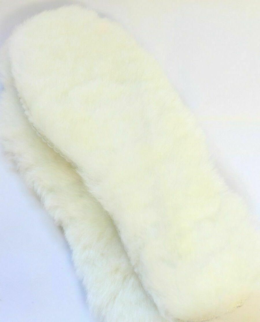 Real Sheepskin Insoles Boots Women Pair
