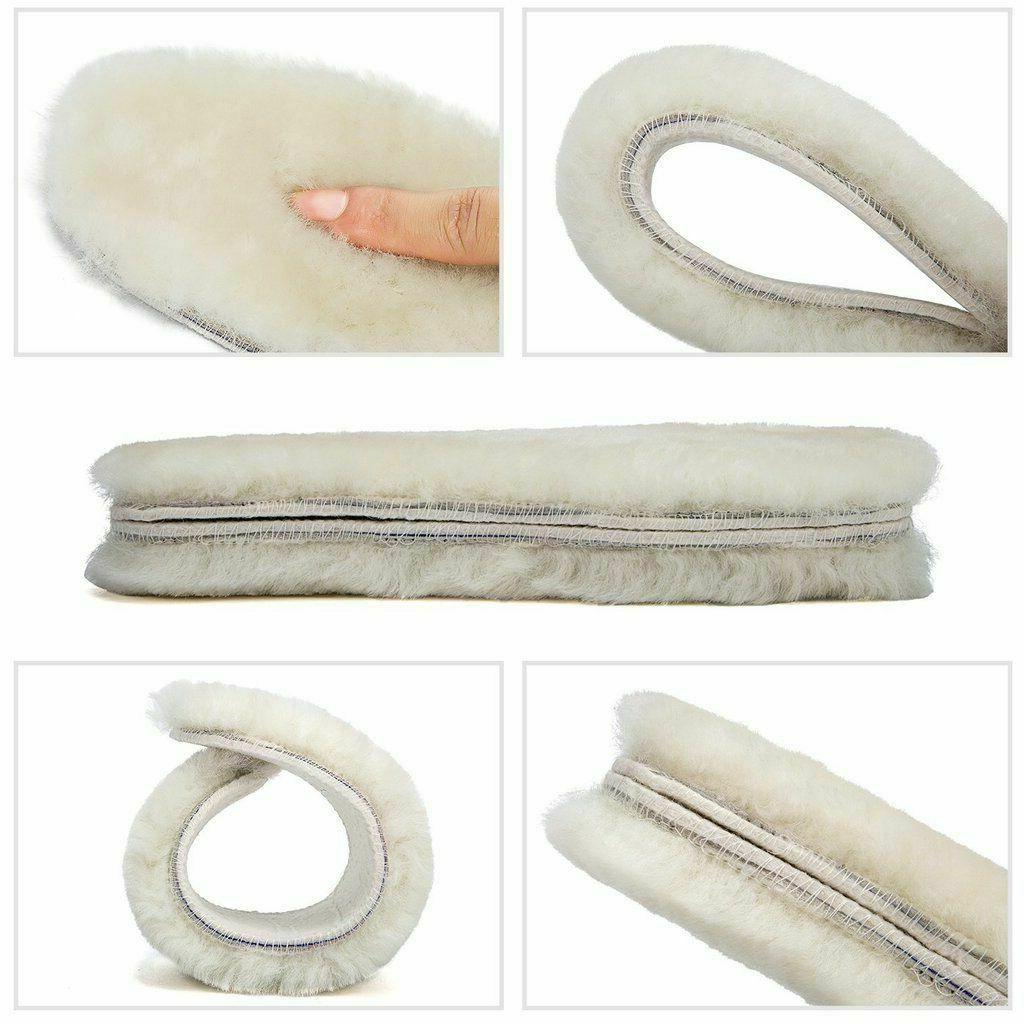 Real Sheepskin Insoles Shoe Slippers Boots Men Pair