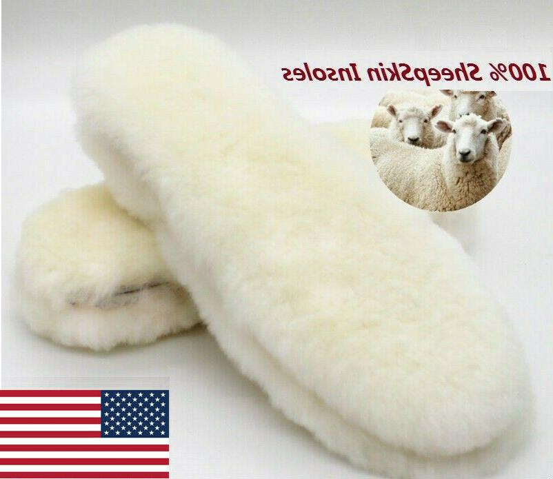 real sheepskin pads reline insoles shoe inserts