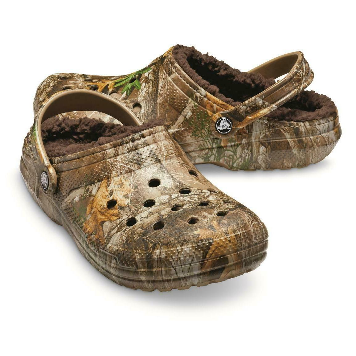 Realtree CROCS Fuzzy Clogs Slippers