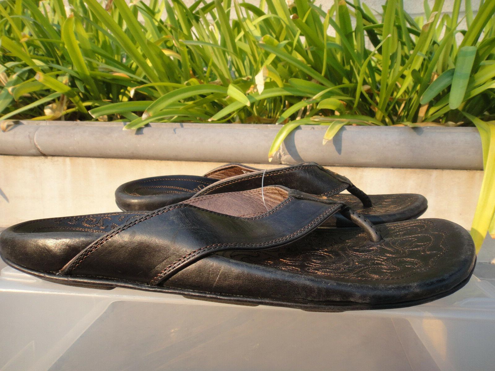 OluKai WAIMEA Thongs/Slippers, Stitched 10M 10317-4040