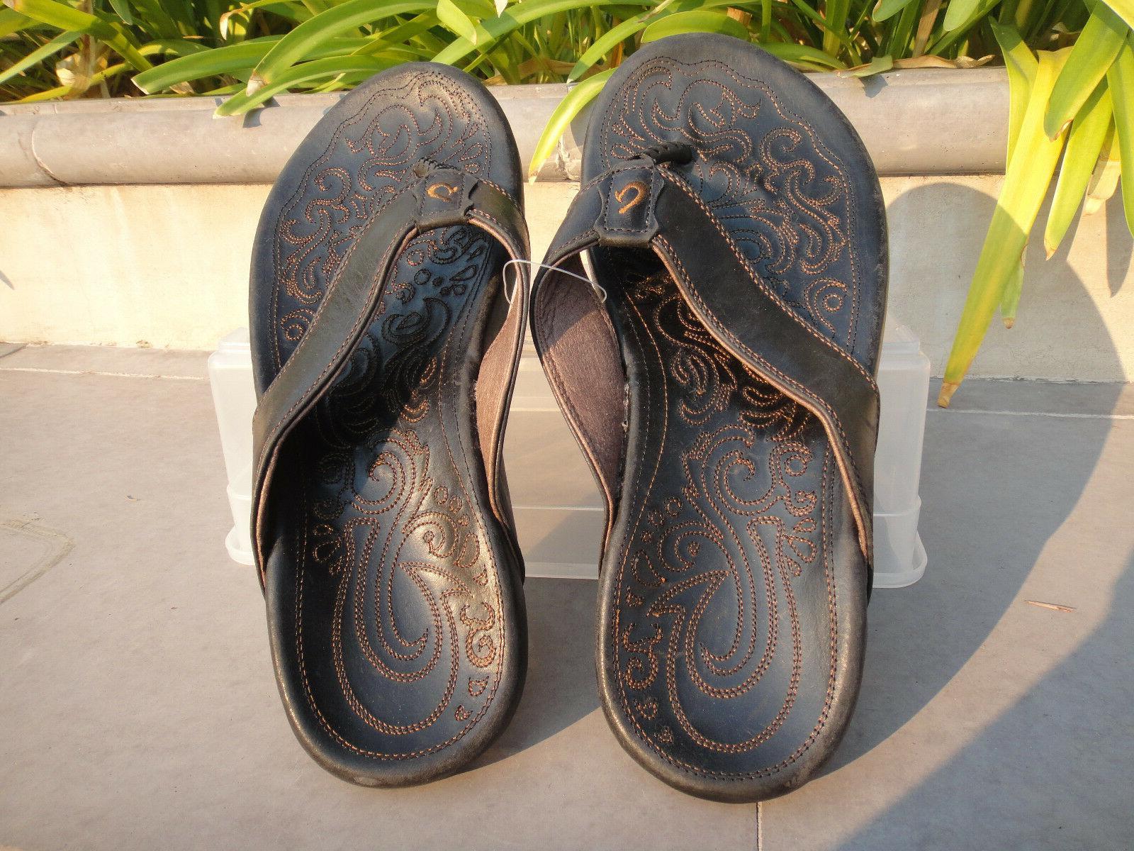 OluKai Leather Stitched Sole, Men's Size 10M 10317-4040