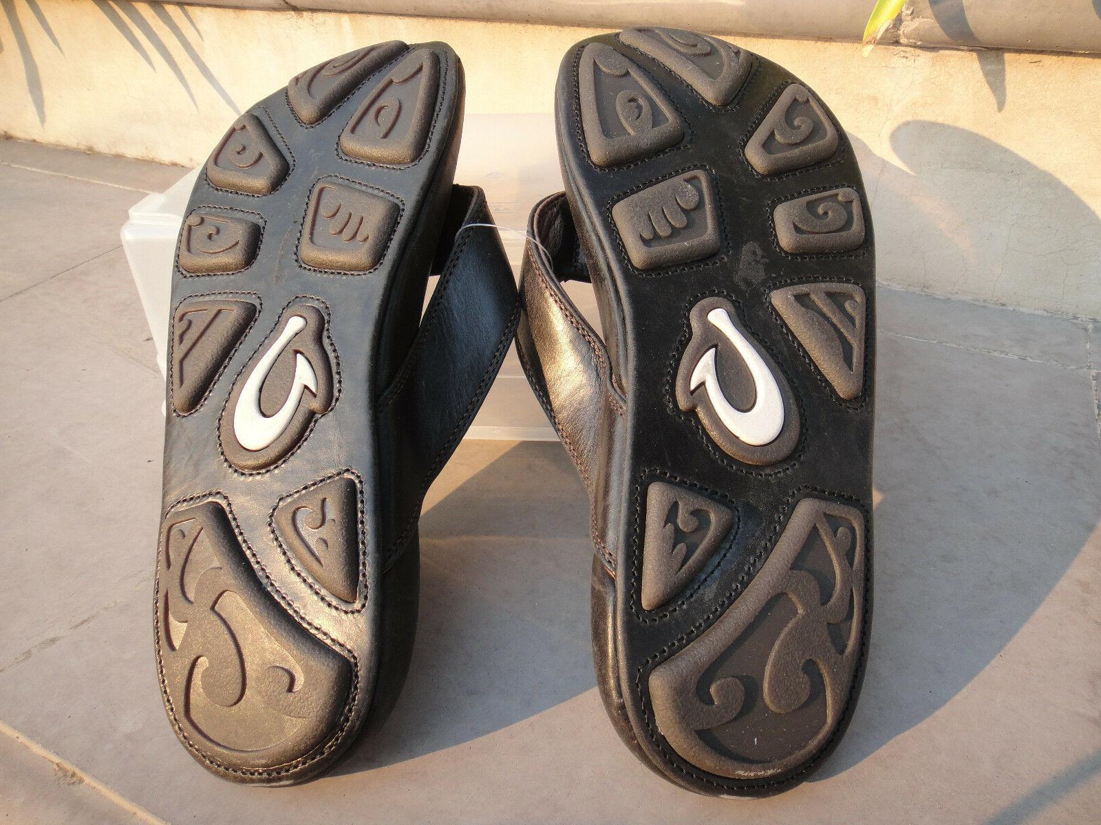 OluKai Leather Stitched Sole, 10M 10317-4040