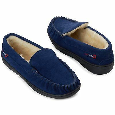 Alpine Swiss Suede Moc Toe Slip Shoes
