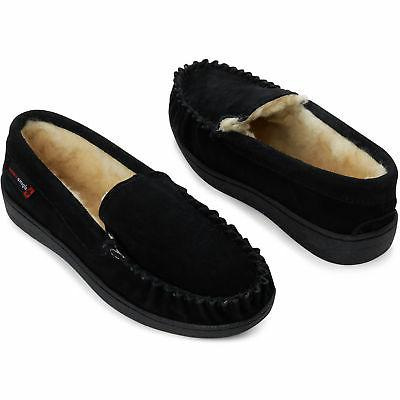 Suede Shearling Slippers Moc Slip On Shoes