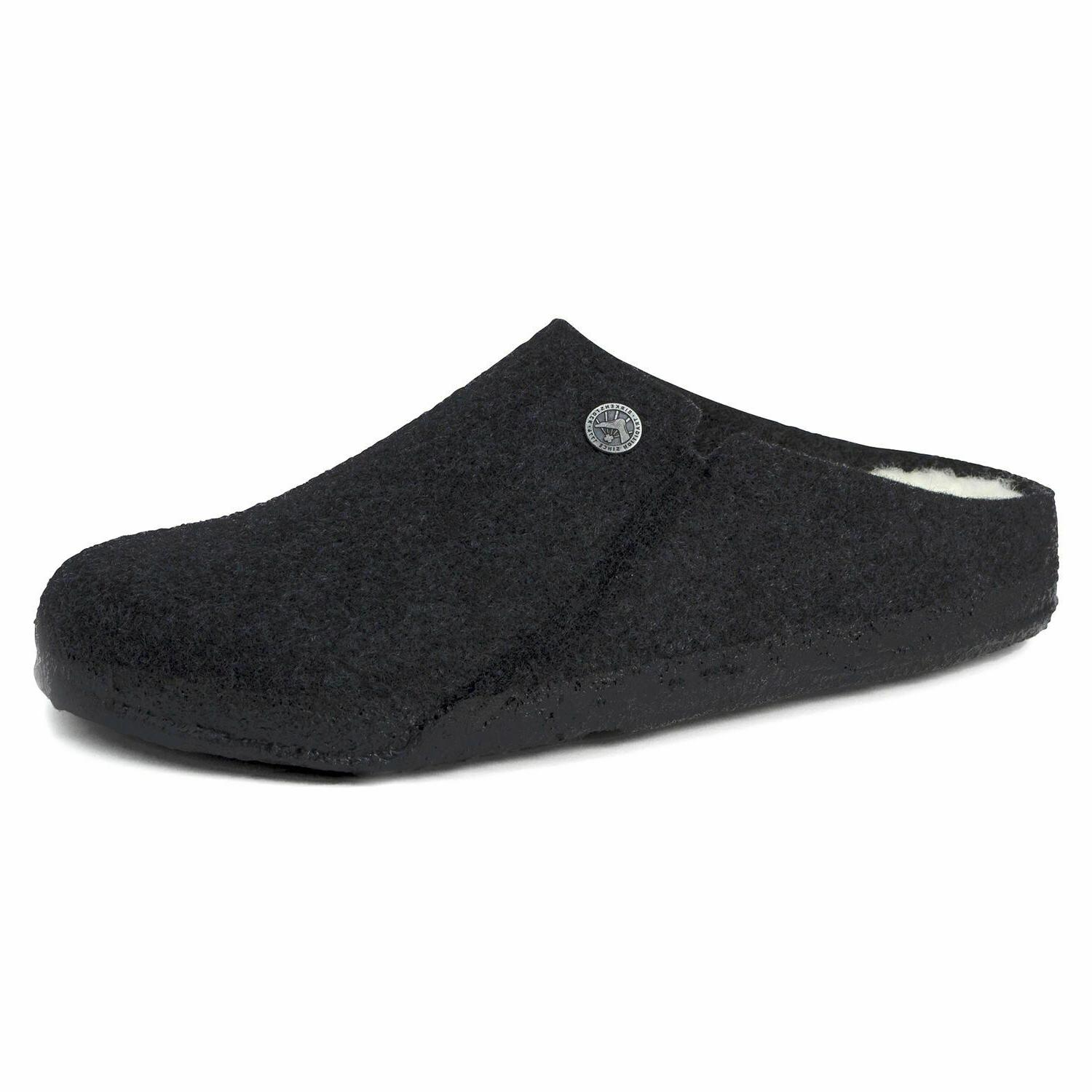zermatt rivet anthracite wool felt slipper new