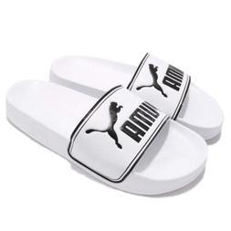 Puma Leadcat Big Logo White Black Men Sandal Slippers Slides