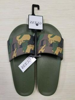 Guess Los Angeles Sandals Men's Fashion Green Camo Slippers