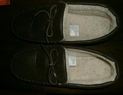 Dickies memory foam Mens Suede Shearling Moccasin Slippers S