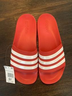 Adidas Men's Adilette Slides / Sandal Shoe NEW Size 10 Red /