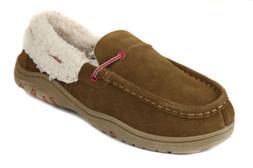 Rockport Men's Cinnamon Suede Faux Fur Lined Moccasin Slippe
