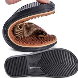 Men's Flip Flop Massage Slippers Thong Sandals Textile Strap