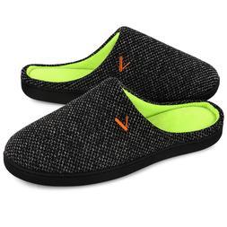 Men Memory Foam Cozy Knit Slippers Indoor Outdoor House Shoe