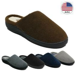 Men's Memory Foam Comfortable Slippers Breath Slip On Indoor
