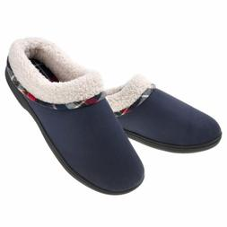 Men's Memory Foam Comfortable Slippers Fuzzy Fleece Lining H