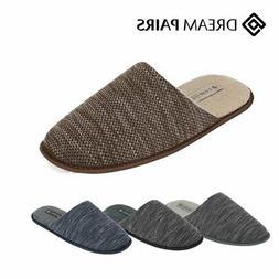 Men's Memory Foam Slippers Knitted Anti-slip Indoor/Outdoor