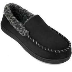 VONMAY Men's Moccasin Slippers Memory Foam Comfort Indoor Ou