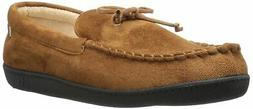 ISOTONER Men's Microsuede Moccasin Slipper with Cooling Memo