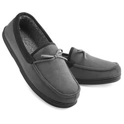 Men's Moccasin Slippers Memory Foam House Shoes Indoor/Outdo