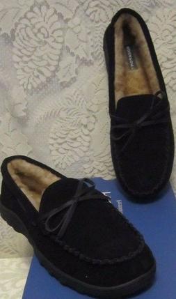 Mens Rockport Mocasin Loafer Suede IndoorOutdoor Slippers Brown Size 10 NWBox