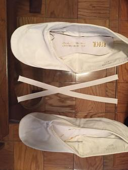 Men's Bloch Prolite White Leather Ballet Slipper, Size 8.5 E
