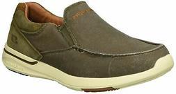 Skechers Men's Relaxed Fit-Elent-Olution Boat Shoe,olive,10