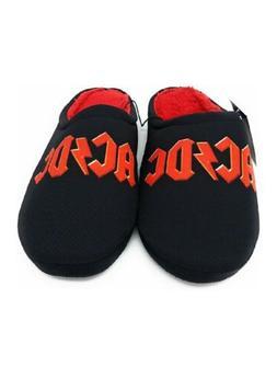 AC DC Men's Shoe Slippers Black Slip On ~ROCK N ROLL~ Size M