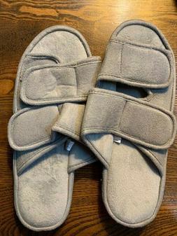 Men's Slippers Adjustable Open Toe SOFT Foam Insoles Shoes w